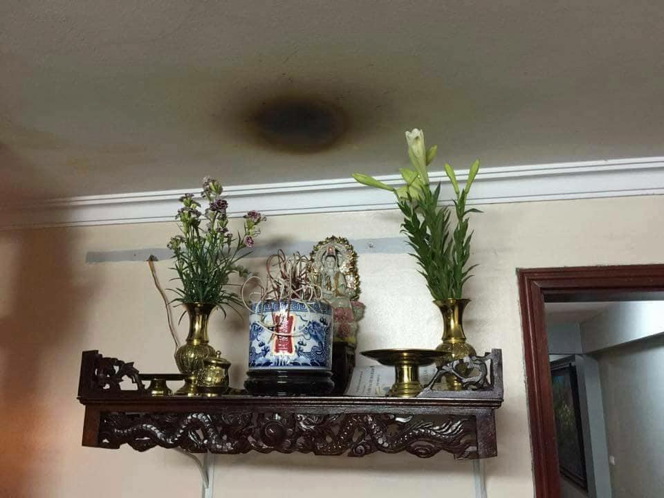 miếng che bàn thờ chống khói