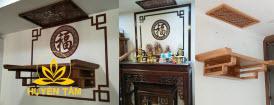 Nội thất bàn thờ tấm chống ám khói bàn thờ Huyền Tâm